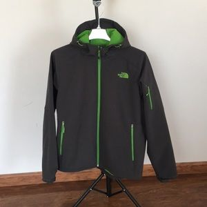 The North Face Jacket XL dark gray lime green